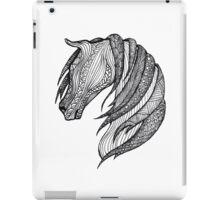 Zentangle Patterned Horse iPad Case/Skin