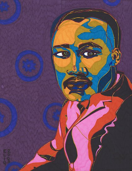 Martin Luther King Jr. by Angelique  Moselle