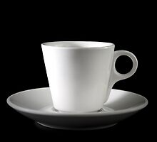 white cup on a black by bashta