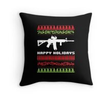 Funny AR-15 Ugly Christmas Sweater T-Shirt and Gifts Throw Pillow