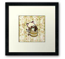 Canelle Apple Kitty Framed Print