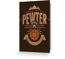 Pewter Gym Greeting Card