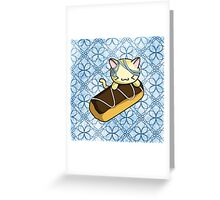 Eclair Kitty Greeting Card