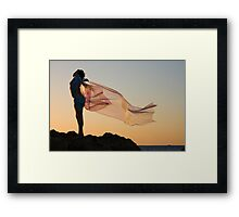 Sunset Princess Framed Print