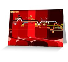 Pulp Fiction Timeline Greeting Card