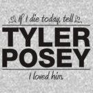 Tyler Posey - If I Die Series (Variant) by huckblade