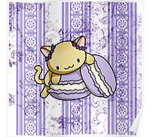 Macaron Kitty Poster