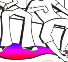 Procrastinate - rainbow drop Sticker