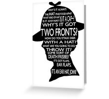 Sherlock's Hat Rant - Light Greeting Card