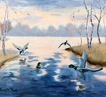 Autumn's Mallards by Brenda Thour