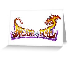 Breath of Fire (SNES) Title Screen Greeting Card