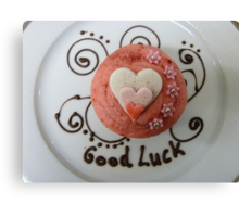 Good Luck!! - Cupcake By Haydene - NZ Canvas Print