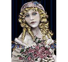 Little Blonde Head Girl Photographic Print