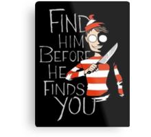 Where's Waldo? Metal Print
