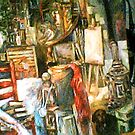 The Studio & Spirits, Second Detail by Barbara Sparhawk