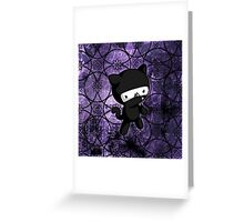 Ninja Kitty Greeting Card