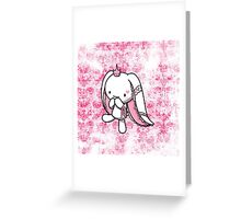 Princess of Hearts White Rabbit Greeting Card
