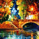 Bridge Over The Life — Buy Now Link - www.etsy.com/listing/214679567 by Leonid  Afremov