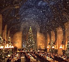 Hogwarts at Christmas - Wide by Serdd