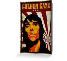 Golden Gaze Greeting Card