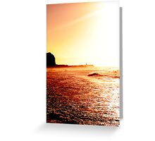Red Tones Greeting Card