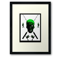 Fisherman's Skull and Rods Framed Print