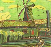 203 - HODGSON'S MILL, BLYTH (Version Four) - COLOURED PENCILS - 2008 by BLYTHART