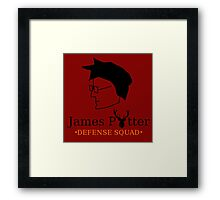James Potter Defense Squad Framed Print