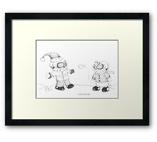 Snow Skellies Framed Print
