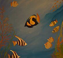 Peixes coloridos by Leda Carniel Benin