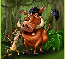 Timon & Pumba by Mike Dio
