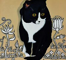 Tuxedo Cat... by Adrian Ramos