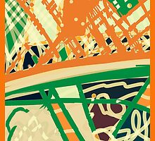 Green and orange multi, ABSTRACT modern GIFTS, DECORS by ackelly4