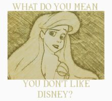 WHAT DO YOU MEAN YOU DON'T LIKE DISNEY?  by sayers