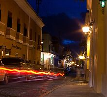A Blur in Old San Juan by Michael Anderson