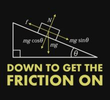 Down to Get the Friction On Physics Diagram by TheShirtYurt