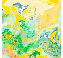 yellow and green, ABSTRACT MODERN ART, design decor, gifts by ackelly4