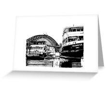 Sydney harbour bridge and ferries Greeting Card