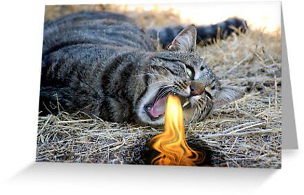 My Cat Breathes Fire! by BluAlien