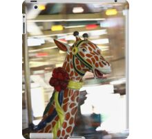 Giraffe on the Carousel iPad Case/Skin