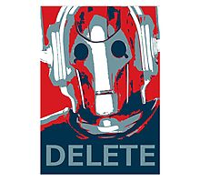 Delete Photographic Print