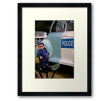 Laughing policeman Framed Print