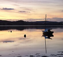 Reflections After Sunset River Exe by rationassasin