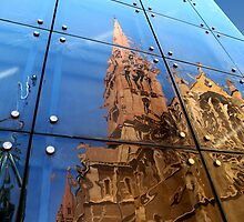 Reflection of St Pauls Cathedral Melbourne by Bevellee