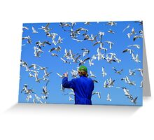 Experience Life In 3D! - Seagulls - NZ Greeting Card