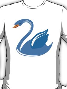 Single cartoon swan T-Shirt