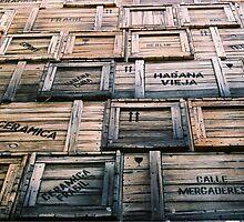 wooden boxes, sculpture, Havana, CUBA by originalprint