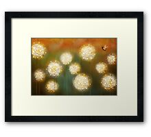 bee and the blowballs Framed Print