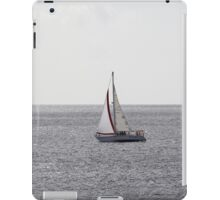 Sailing Boat on grey Sea iPad Case/Skin