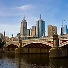 Swanston St Bridge by Aaron  Sheehan